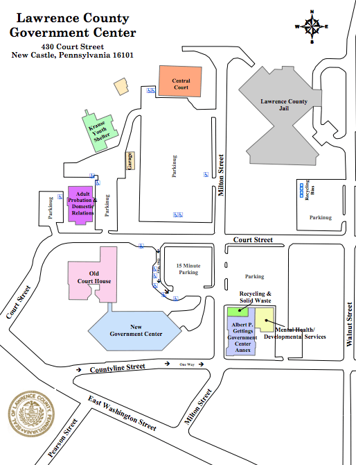 Government Center and Campus Map | Lawrence County, Pennsylvania
